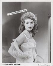 Please Don't Touch me 1963 exploitation movie 8x10 original Ruth Blair in bra