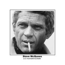 Steve McQueen as Frank Bullitt iconic pose smoking cigarette 8x10 photo