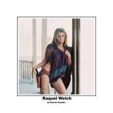 Raquel Welch iconic sexy leggy pose in ponch with gunbelt as Hannie Caulder 8x10