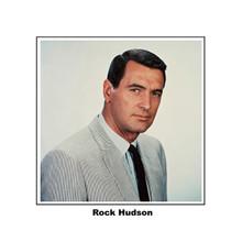 Rock Hudson in striped suit 8x10 inch photo 1960's era