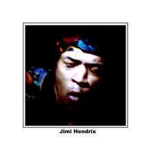 Jimi Hendrix classic pose 8x10 photo with border &  name printed underneath