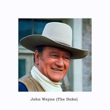John Wayne smiling portrait in western scarf and hat classic Duke 8x10 photo
