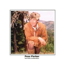 Fess Parker as Davy Crockett in bucksin jacket & famous hat 8x10 photo