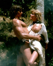 Tarzan 1980 Bo Derek tied to a tree Miles O'Keefe embraces her 8x10 photo