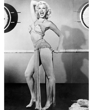 Marilyn Monroe sexy full length pose in burlesque outfit 8x10 photo