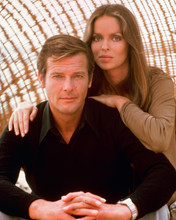 Spy Who Loved Me Barbara Bach Roger Moore publicity pose 8x10 photo