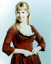 Shani Wallis as Nancy in low cut red dance hall dress Oliver 8x10 photo