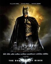 The Dark Knight Rises Christian Bale as Batman poster art 8x10 photo