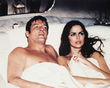 Spy Who Loved Me Roger Moore Barbara Bach in bed in escape pod 8x10 photo