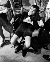 The Munsters TV rare Butch Patrick relaxing on set between takes 8x10 photo