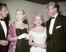 Grace Kelly candid 1950's attending Hollywood event with 3 others 8x10 photo