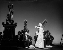 Marilyn Monroe on stage singing with band 8x10 photo Gentleman Prefer Blondes