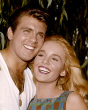 Tuesday Weld 1960's with big smile poses with Fabian Forte 8x10 photo