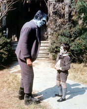 The Munsters Fred Gwynne as Herman outside house with Eddie Butch Patrick 8x10