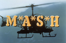 M.A.S.H  TV series classic opening credits with logo and helicopter 8x10 photo
