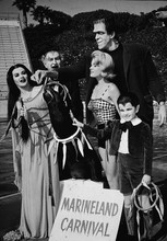 The Munsters movie 1966 Herman and family at Marineland Carnival 8x10 photo