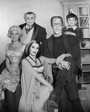 The Munsters TV series Herman lily Grandpa Marilyn & Eddie  family pose 8x10