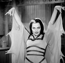 The Munsters Lily waist high holding up hands like vampire 8x10 photo