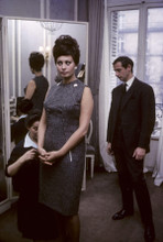 Sophia Loren candid 8x10 photo being fitted for a dress
