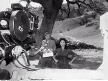 Sophia Loren rare scene filming on set on location 8x10 photo