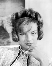 Romy Schneider beautiful young studio portrait wearing pearls 8x10 photo