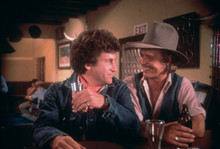 Starsky and Hutch Paul Michael Glaser David Soul drinks beers in bar 8x10 photo