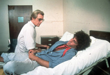 Starsky and Hutch Paul Michael Glaser lies on bed David Soul by side 8x10 photo