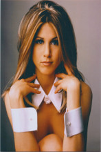 Jennifer Aniston classic pose 8x10 1990's photo in collar and cuffs for Friends