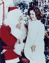 Shirley Temple meets Santa Claus 8x10 photo