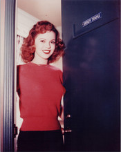 Shirley Temple as a teenager 8x10 photo opening door to her dressing room