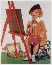Shirley Temple 1930's artwork sitting at easel painting 8x10 photo
