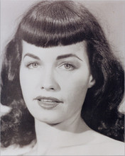 Bettie Page 8x10 studio portrait of famous pin-up girl