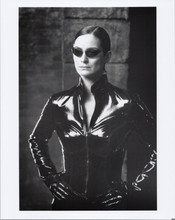The Matrix Reloaded 8x10 photo Carrie Ann Moss in black outfit