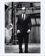 The Matrix Reloaded 8x10 photo Hugo Weaving walks down street
