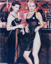 Gina Gershon Elizabeth Berkeley sexy pose at bar Showgirls 8x10 photo