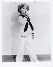 Shirley Temple full length pose in sailor suit blowing whistle 8x10 photo