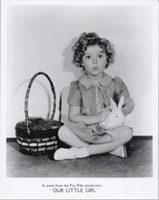 Shirley Temple sits with baby rabbitt Our Little Girl movie 8x10 photo