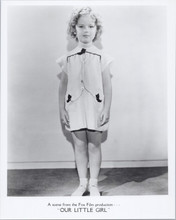 Shirley Temple full length pose Our Little Girl movie 8x10 photo