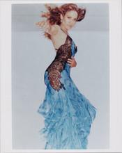 Shakira full length pose in black lace dress 8x10 photo