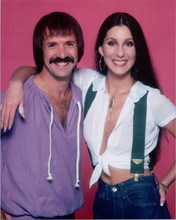 Cher & Sonny Bono 1970's 8x10 smiling photo together