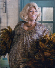 Queen Latifah 8x10 photo smiling pose holding faether boa