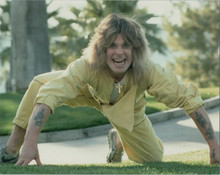 Ozzy Osbourne classic 1970's pose in yellow outfit on all fours 8x10 photo