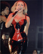 Charlotte Church 8x10 press photo in concert in tight busty leather dress