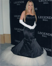 Mariah Carey 1990's 8x10 press photo attending Legends Ball in black dress