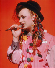 Boy George Culture Club lead singer classic 1980's in concert 8x10 press photo