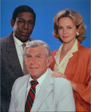 Matlock TV series cast pose Andy Griffith Linda Purl Kene Holliday 8x10 photo