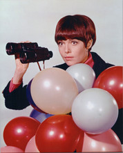 Barbara Feldon holds up binoculars studio portrait Get Smart 8x10 photo