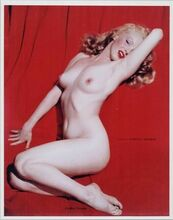 Marilyn Monroe classic nude pin-up 16x20 inch Poster