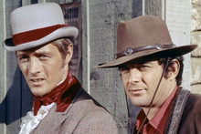 Lancer TV series James Stacy Wayne Maunder in western town 4x6 inch photo