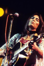 Emmylou Harris 1970's in concert playing guitar 4x6 inch photo